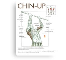 Chin-Up Exercise Diagram Canvas Print