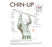 Chin-Up Exercise Diagram Photographic Print