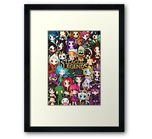 Chibi League of Legends Framed Print