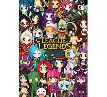 Chibi League of Legends Photographic Print
