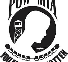 POW MIA Black Text by TheAtomicSoul