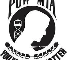 POW MIA Black Text by TheAtomicSoul