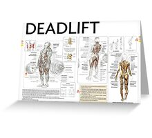 Barbell Deadlift Exercise Diagram Greeting Card