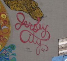Colorful Mural, Jersey City, New Jersey Sticker