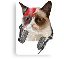 Cat bowie Canvas Print