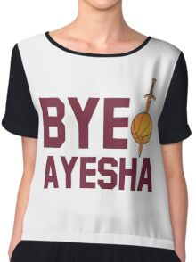 BYE AYESHA CLEVELAND CAVALIERS KING JAMES LEBORN Chiffon Top