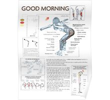 Good Morning Exercise Anatomy Poster