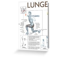 Lunge Exercise Anatomy Greeting Card