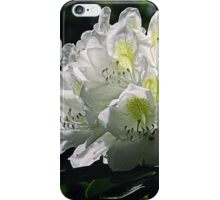 Great White Rhododendron iPhone Case/Skin