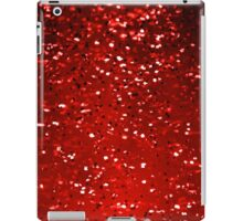 Red Sparkles iPad Case/Skin