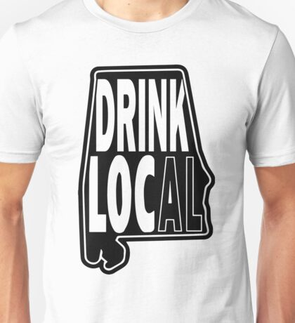 Drink Local Black Unisex T-Shirt
