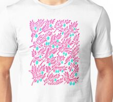 Olive Branches – Pink Ombré and Turquoise Unisex T-Shirt