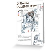 One-Arm Dumbbell Row Diagram Greeting Card