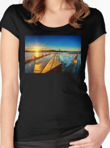 Sunrise on Lake Burley Griffin Women's Fitted Scoop T-Shirt