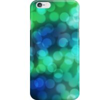Blue and Green Bokeh iPhone Case/Skin