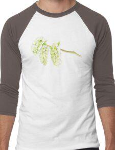 Green willow catkin watercolor painting Men's Baseball ¾ T-Shirt