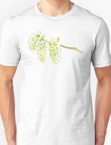 Green willow catkin watercolor painting Unisex T-Shirt