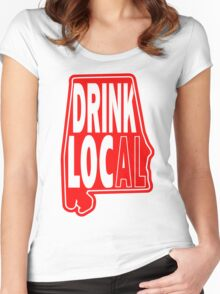 Drink Local Red Women's Fitted Scoop T-Shirt