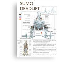 Barbell Sumo Deadlift Diagram Canvas Print