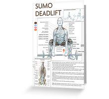 Barbell Sumo Deadlift Diagram Greeting Card