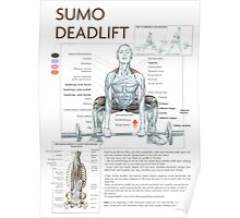 Barbell Sumo Deadlift Diagram Poster