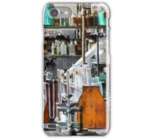 Chem Lab With Test Tubes and Retort iPhone Case/Skin