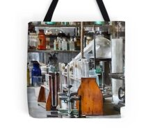 Chem Lab With Test Tubes and Retort Tote Bag