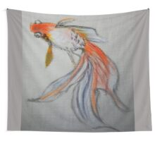 Goldfish Pond (close up #10) Wall Tapestry
