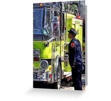 Firemen Talking Greeting Card
