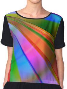 Rainbow Point Chiffon Top