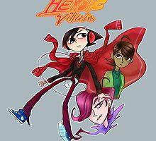 Heroic Villain: Liang, Alex and Nil by kirakurry