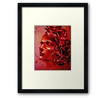 A Blood-Stained Skull Framed Print