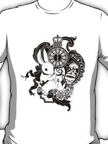 White Rabbit in Black T-Shirt