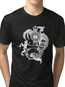 White Rabbit in White Tri-blend T-Shirt