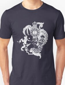 White Rabbit in White Unisex T-Shirt