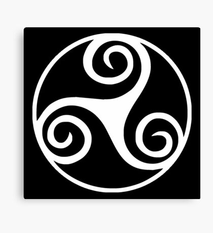 Celtic Triskele in Circle Canvas Print