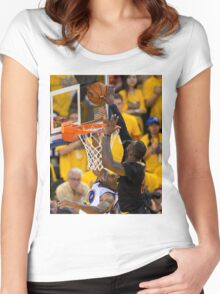 LeBron's block Women's Fitted Scoop T-Shirt
