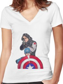 stucky Women's Fitted V-Neck T-Shirt