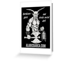 Goat Lord Website Ad Greeting Card