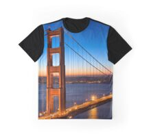 Golden Gate Dawn Bridge Graphic T-Shirt