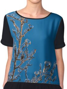 Mother Nature's Christmas Decorations - Ice Jewelry Chiffon Top