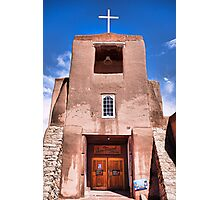 San Miguel Mission with Blue Sky Photographic Print
