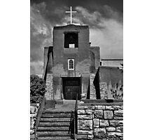 San Miguel Mission with Stairs  Photographic Print