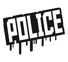 Police Graffiti Stempel by Style-O-Mat