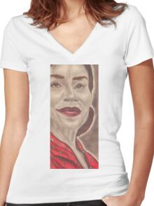 an American actress and stage director Women's Fitted V-Neck T-Shirt