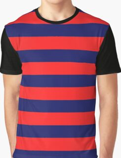Blue & Red Navy Magic Stripes Summer Design Set Graphic T-Shirt
