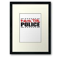 Logo Design Fuck The Police Framed Print