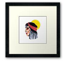 Girl and Sun Framed Print