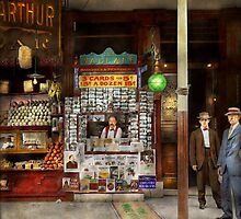 Newsstand - Standing room only 1908 by Mike  Savad