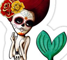 El Dia de Los Muertos Mermaid Sticker